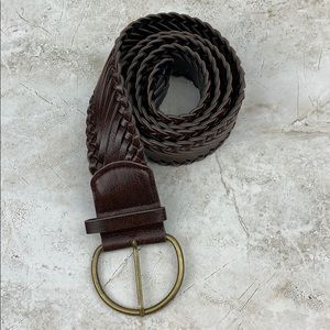 VEGAN LEATHER — Boho Woven Belt — XL